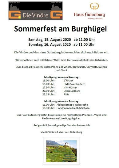 Sommerfest am Burghügel